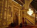 Mehrab and minbar, Umayyad mosque (5347759587).jpg