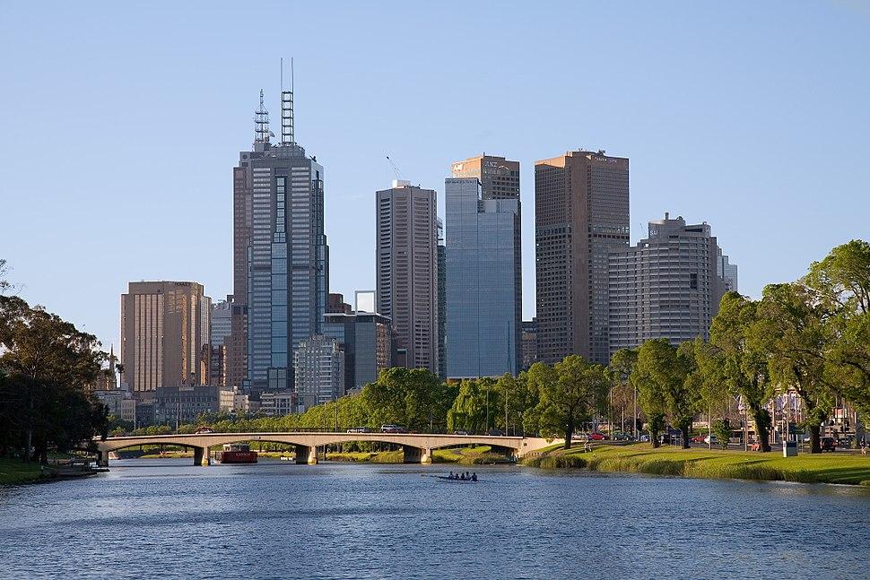 Melbourne yarra afternoon
