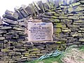 Memorial Plaque at Beacon Hill (part of the district known as Southowram) overlooking the Shibden Valley - geograph.org.uk - 1215893.jpg