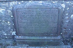Noel Skelton - Memorial to Archibald Noel Skelton, old churchyard, Loch Leven, Kinross