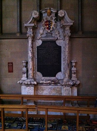 William Fleetwood - Memorial to Bishop William Fleetwood in Ely Cathedral