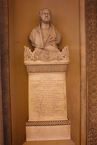 William Behnes - Memorial to Sit Thomas Hardy by William Behnes in Chapel at Greenwich's Old Royal Naval College.