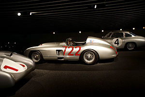 1955 Mille Miglia - Moss's winning Mercedes-Benz 300SLR in the Mercedes-Benz Museum