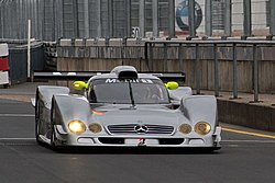 A Mercedes-Benz CLR at the Nürburgring in 2009