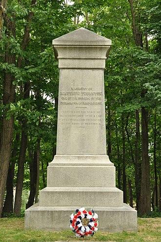 Signer's House and Matthew Thornton Cemetery - Image: Merrimack NH Matthew Thornton Marker