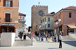 The Clock tower in Piazza Ferretto