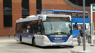 Fastway (bus rapid transit) - A Fastway route 100 bus in Redhill.