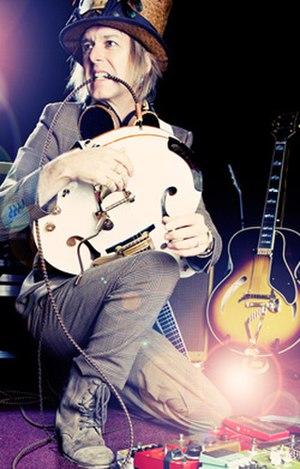 Michael Lockwood (guitarist) - Image: Michael Lockwood in midst of creative spark
