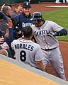 Michael Morse celebrate HR with teammates.JPG