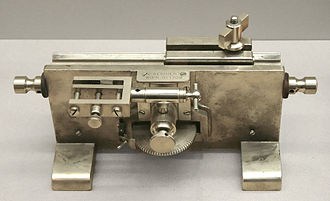Microtome - Microtome (C. Reichert, Vienna, 1905–1915).
