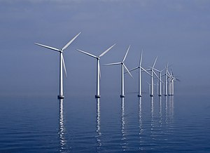 Middelgrunden offshore wind farm (40 MW) in th...