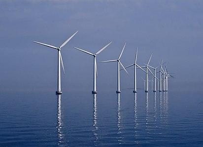 Middelgrunden offshore wind farm, Øresund, Denmark