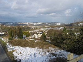 Winterlandschap rond Middleton-by-Wirksworth
