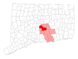 Location within Middlesex County, کنتیکت