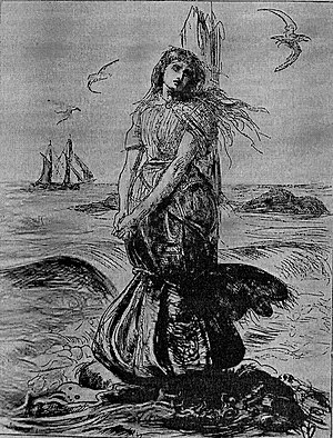 Margaret Wilson (Scottish martyr) - Millais' illustration of Wilson's martyrdom, published in Once A Week, July 1862