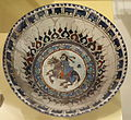 Minai-ware bowl with a horse and rider, Iran, Kashan, 12th-13th century, overglaze-painted stonepaste - Royal Ontario Museum - DSC04688.JPG