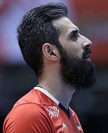Mir Saeid Marouf in the match between Iran and China at the Men's World Olympic Qualification Tournament in Tokyo.jpg