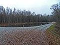 Mirostowice Dolne. Zbiornik retencyjny (^) w lesie - panoramio.jpg