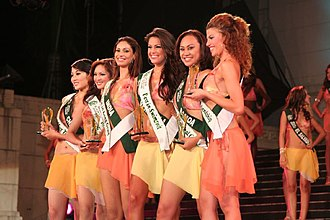 Miss Earth 2006 - Miss Earth 2006 Award winners: China (Talent), Canada (Photogenic), India (Long Gown), Venezuela (Swimsuit), Samoa (National Costume), and Italy (Friendship)