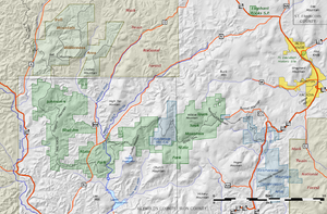 Bell Mountain Wilderness - Bell Mountain Wilderness is northwest of Johnsons Shut-Ins and Taum Sauk state parks.