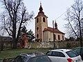 Mořina, kostel svatého Stanislava, od jihozápadu.jpg
