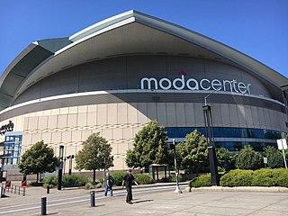 Moda Center Sports arena in Portland, Oregon