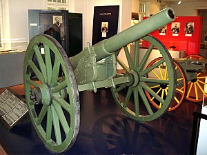 87 mm light field gun M1877 - M1877 87-mm field gun in Hämeenlinna Artillery Museum.