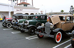 Lineup of Ford Model As
