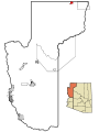 Mohave County Incorporated and Unincorporated areas Colorado City highlighted.svg