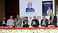 "Mohd. Hamid Ansari launching a book entitled ""Public Issues before Parliament"", authored by Shri Vijay J. Darda, at a function, in New Delhi. The Union Minister for New and Renewable Energy, Dr. Farooq Abdullah.jpg"