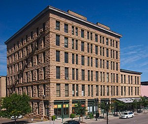 Traffic Zone Center for Visual Art - The Moline, Milburn and Stoddard Company building from the south