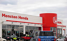 A Post 2005 Style Honda Dealership In Moncton Canada