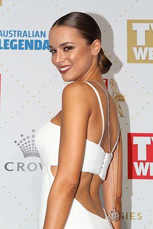 Miss Universe Australia - Image: Monika Radulovic arrives at the 58th Annual Logie Awards at Crown Palladium (26836426901)
