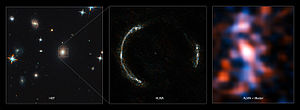 Einstein ring - Image: Montage of the SDP.81 Einstein Ring and the lensed galaxy