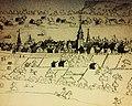 Montréal, vers 1800. Panorama, depuis un flanc du mont Royal. (6799262698).jpg