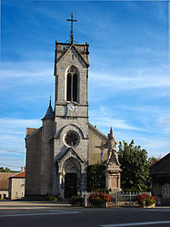 The church in Montrond-le-Château