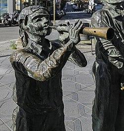 Monument als castellers (Tarragona), Detall 2.jpg