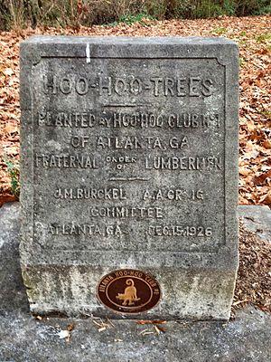 Concatenated Order of Hoo-Hoo - Monument to 1926 Hoo Hoo Club tree planting, Piedmont Park, Atlanta