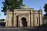Fil:Mosaiska kapellet vid Gamla begravningsplatsen vid Svingeln.jpg