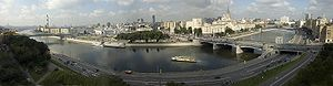 Panorama of Moscow, Borodinsky Bridge near rig...