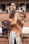 Mother and Son Durbar Square Kathmandu Nepal Luca Galuzzi 2006.jpg