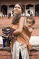 Mother and Son Durbar Square Kathmandu Nepal Luca Galuzzi 2006.jpg