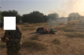 Motorcycle destroyed by Team Ouallam and Nigerien force before the Tongo Tongo ambush.png