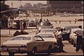 Motorists Wait In Line At Soldier's Field, One Of Nine Auto Pollution Test Sites Conducted Free By The City Of Chicago's Environmental Control Department, 08-1973 (8675992574).jpg