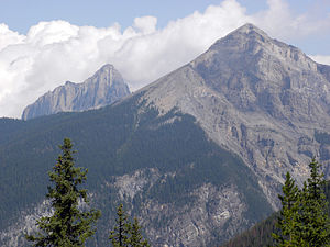 Waptia - Mount Field with Mount Wapta in the background, near Field, British Columbia, Canada