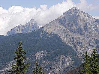 Waptia - Mount Field with Mount Wapta in the background, near Field, British Columbia, Canada