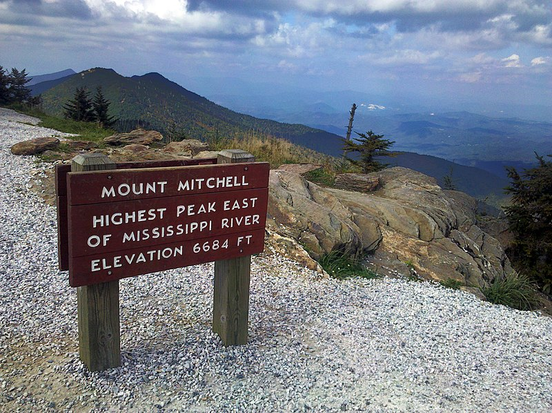 File Mount Mitchell Sign Jpg Wikimedia Commons