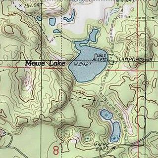Mowe Lake lake in Delta County, Michigan, USA