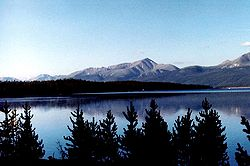 Mount Elbert, edustalla Turquoise Lake.