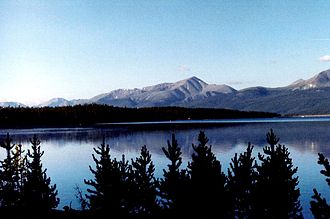 Outline of Colorado - Mount Elbert in the Sawatch Range of Colorado is the highest peak of the Rocky Mountains of North America